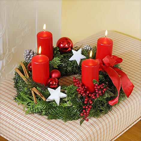 adventskranz adventskalender und weihnachten wir freuen uns darauf. Black Bedroom Furniture Sets. Home Design Ideas